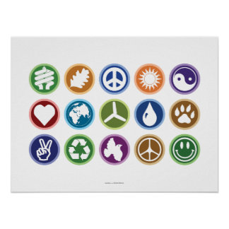 Symboles d'Eco Affiche