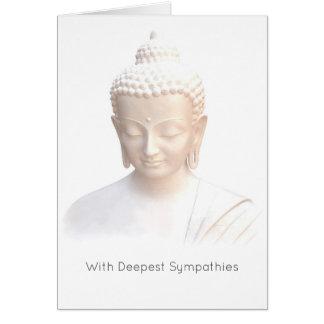 Sympathie - calme méditatif serein blanc de carte de vœux