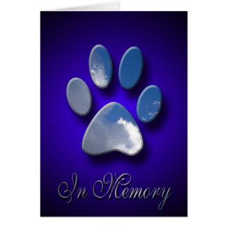 Sympathie de chat de sympathie de chien de carte d