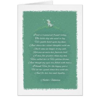 Sympathie de chien - a perdu un chien (femelle) de carte de vœux