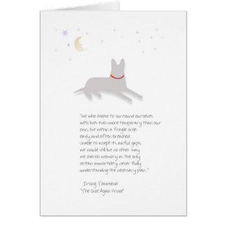Sympathie de chien - berger allemand - avec le carte de vœux