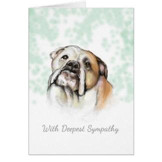 Sympathie de chien - carte de sympathie de chien