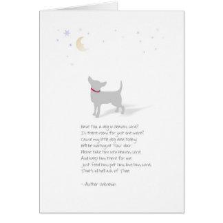 Sympathie de chien - petit chien - poème de perte carte de vœux