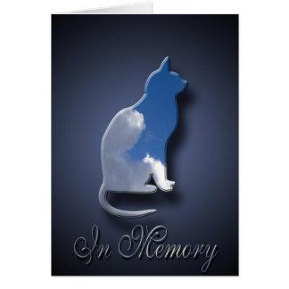Sympathie de la mort de chat pour le propriétaire  carte de vœux