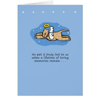 Sympathie de mémorial de chat d'ange cartes