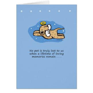 Sympathie de mémorial de chien d'ange cartes