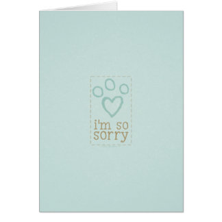 Sympathie de perte d'animal familier de bleu carte de vœux