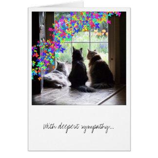 Sympathie, perte d'animal familier, carte de pont