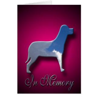 Sympathie pour la mort du chien carte de vœux