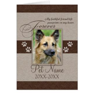 Sympathie pour toujours aimée d'animal familier carte de vœux