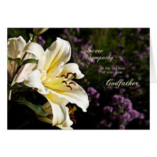 Sympathie sur la mort d'un parrain carte de vœux