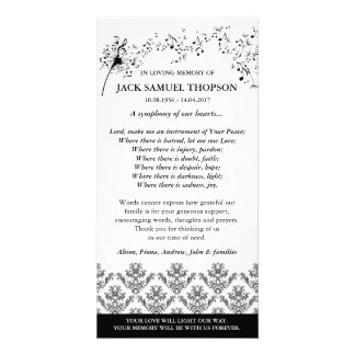 Symphonie de notre carte de remerciements de cartes de vœux avec photo