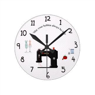 Synchronisez pour le crafter ou le sewist dans horloge ronde