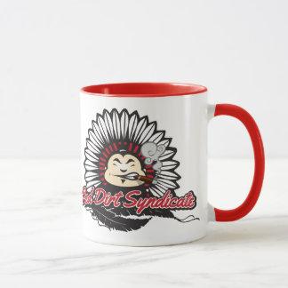 Syndicat rouge de saleté mug