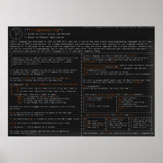 Syntaxe et méthodes dans le langauge de C Poster