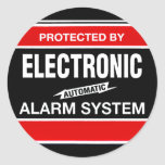 Système d'alarme électronique autocollants ronds