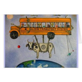 Système de transport étranger carte de vœux