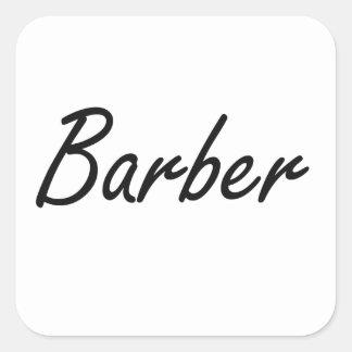 Système de travail artistique de coiffeur sticker carré