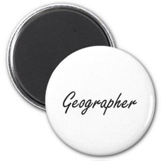 Système de travail artistique de géographe magnet rond 8 cm