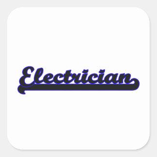 Système de travail classique d'électricien sticker carré