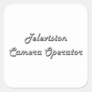 Système de travail classique d'opérateur de caméra sticker carré