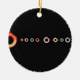 système solaire de doughtnuts ornement rond en céramique
