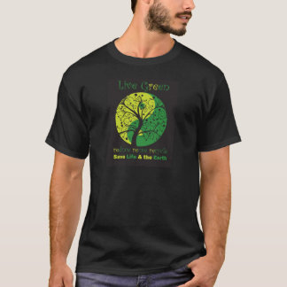 T1 ying de yang de noir de LiveGreen T-shirt