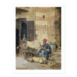 T32410 le vendeur de fleur, 1891 (panneau) cartes postales