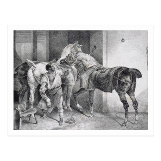 T34894 le maréchal-ferrant anglais, 1822 (litho) carte postale