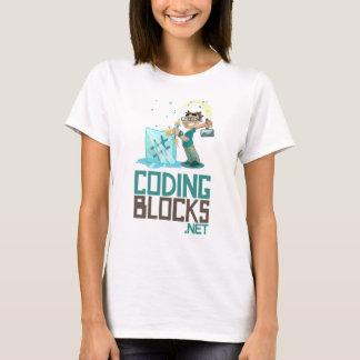 T de base des femmes - le codage bloque le logo t-shirt