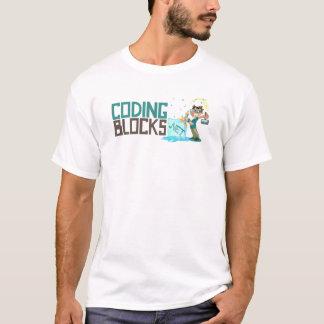T de base des hommes - le codage bloque le logo t-shirt
