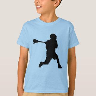 T de l'enfant de joueur de lacrosse t-shirt