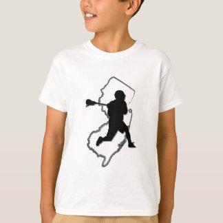 T de l'enfant de lacrosse de NJ T-shirt