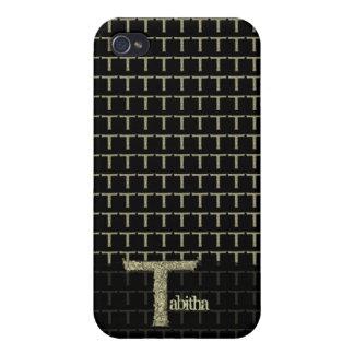 T - L alphabet de Falck d or Coques iPhone 4/4S
