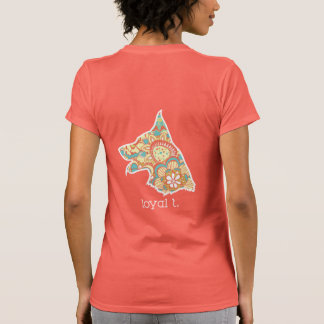 T loyal - Orange de T-shirt