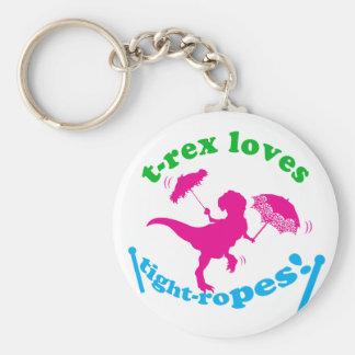 T-Rex aime des cordes raides ! Porte-clé Rond