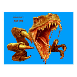 T Rex_blue screen.jpg Carte Postale