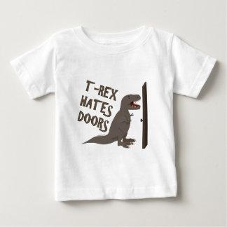 T-Rex déteste des portes T-shirt Pour Bébé