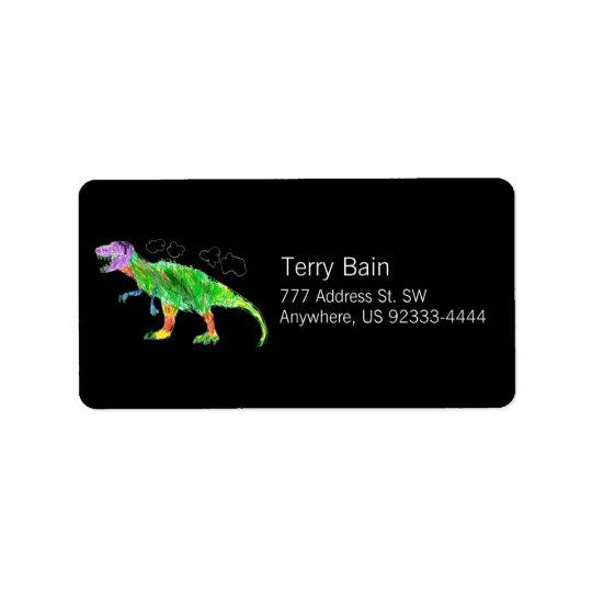 T-Rex Étiquette D'adresse