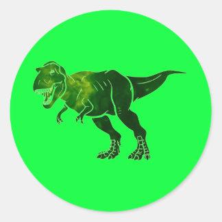 T-Rex Sticker Rond