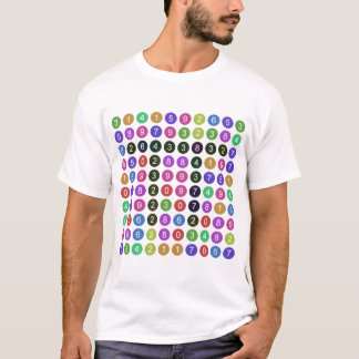 T-shirt 100 chiffres de pi