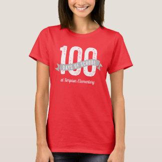 T-shirt 100 jours de chemise d'école