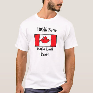 T-shirt 100% pur, érable LeafBeef !