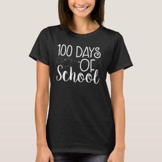 T-shirt 100th Jour de chemise d'école - police blanche