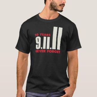 T-shirt 10 ans anniversaire chemise du 11 septembre
