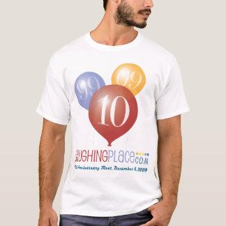 T-shirt 10ème anniversaire de LP, avant/arrière