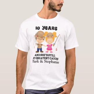 T-shirt 10ème Cadeau fait sur commande d'anniversaire pour