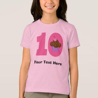 T-shirt 10ème petit gâteau personnalisé d'anniversaire de