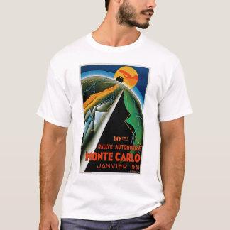 T-shirt 10ème Rassemblement De Monte Carlo d'automobile