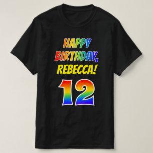 12th Douzième Birthday T-Shirt Garçon Fille Unisexe Anniversaire Cadeau Age 1-13